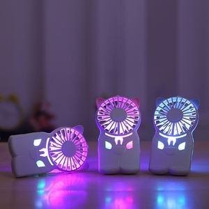 7 Color Light Rechargeable Mini Fan with Lanyard