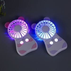 Colorful Light Rechargeable Mini Fan with Lanyard