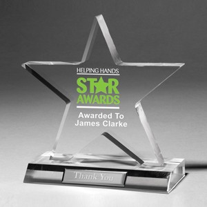 "Large Star Achievement Award w/4-Color Process (7""x 7 1/2""x 3/4"")"