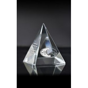 Small Pyramid Paperweight Award