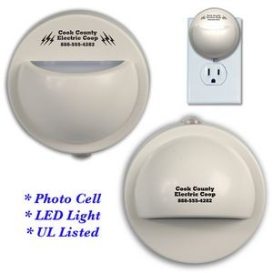 LED Half Dome Night Light w/ Photocell