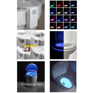 iBank(R)16-Color Motion Activated Toilet Night Light